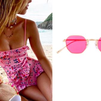 Флорални бански и цветни очила за лятото